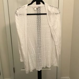 Loft white light weight sweater